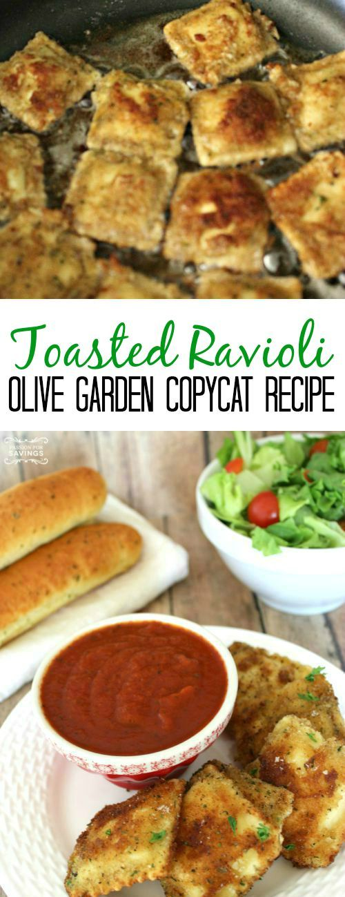Olive Garden Copycat Toasted Ravioli! Easy Appetizer Recipe Or Meal Idea  For A Yummy Dinner