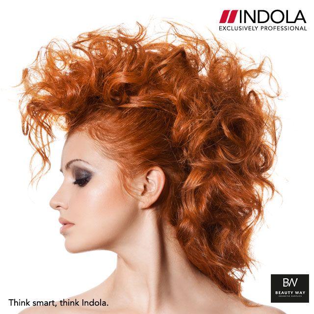 Red hair power! Σας αρέσουν τα μαλλιά της; #Indola #BeautyWay