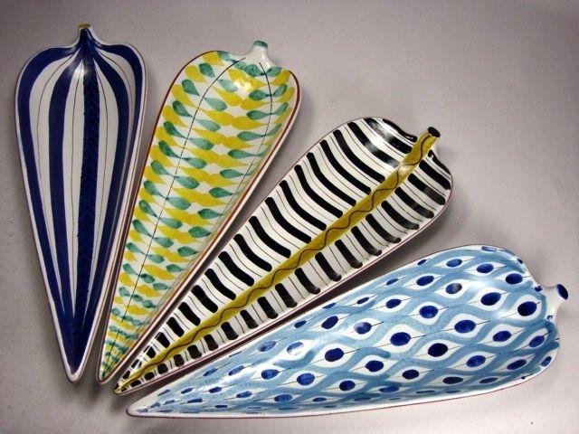 Faience bowls designed by Stig Lindberg.