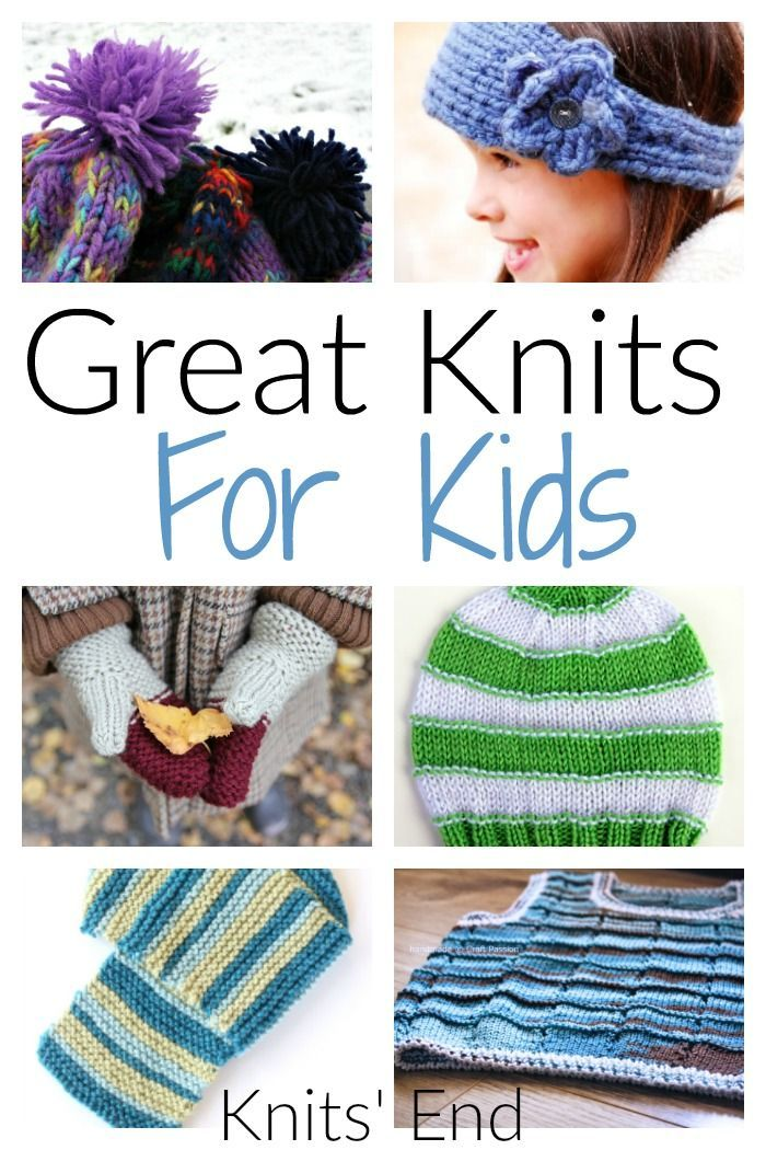 Collection of knits for kids, fun childrens knitting patterns DIY / Cr...