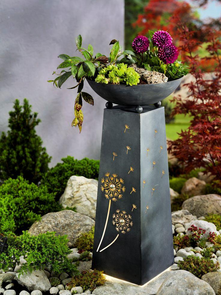 Pflanzsäule Pusteblume mit Beleuchtung bestellen