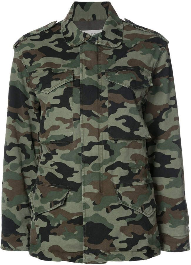 Nili Lotan camouflage cargo jacket Green cotton blend camouflage cargo  jacket from Nili Lotan.