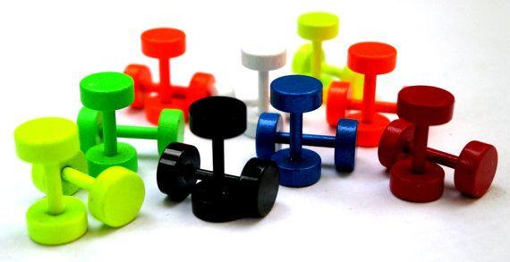 Screw Stud Earrings Round Colored Earrings by JewelryByKonstantis