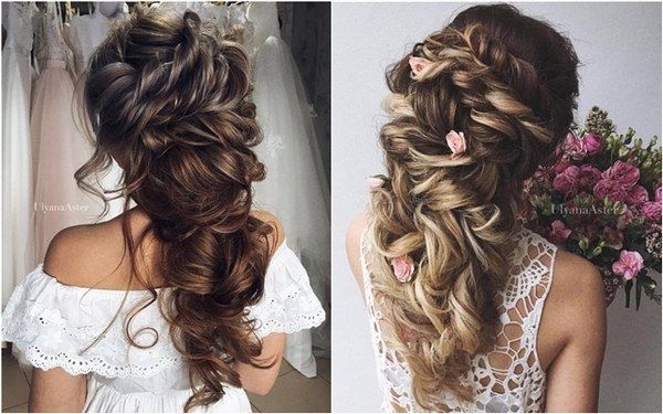 Hochzeit Updo Frisuren für langes Haar von Uljana Aster