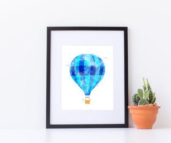 Nursery Air Balloon, Watercolor Balloon Print, Hot Air Balloon Print, Balloon Art Print, Hot Air Balloon Baby, Air Balloon Art Printable