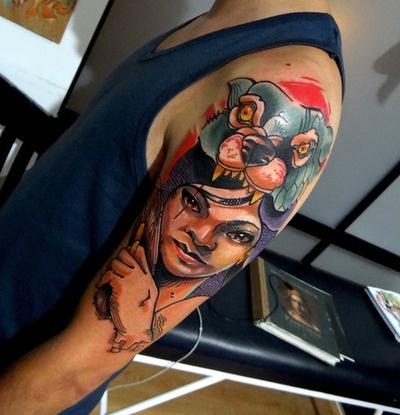 Tattoo done byDaniel Acosta Leon.