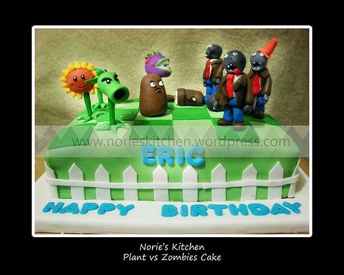 Plants vs Zombies Birthday Cake | Plants vs Zombies Cake | Norie's Kitchen Custom Cakes