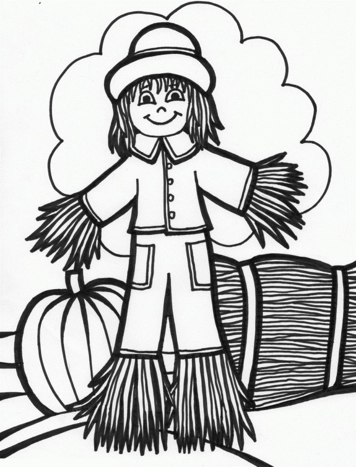 Free Printable Scarecrow Coloring Pages For Kids | Monster ...