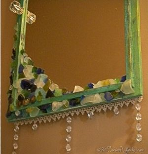 This DIY mirror project from Susan Weckesser is a thrifty way to update an old mirror. Add some style to your home with this embellished antique mirror. @ http://www.favecrafts.com/Vintage-Decor/Embellished-Antique-Mirror/ct/1