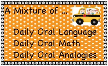 A Mixture of Daily Oral Language, Math and Analogies - Full Year