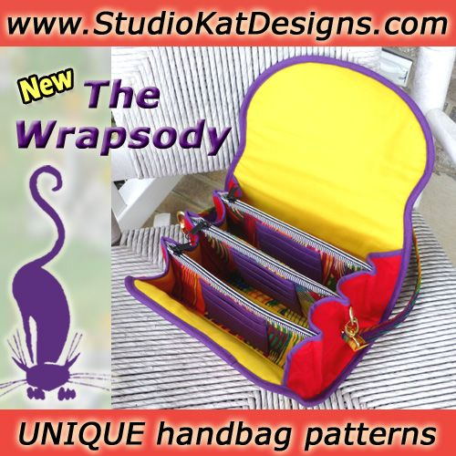 StudioKat Designs printed handbag sewing patterns for the way women really live!