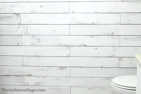 DIY Plank Wall with Fence Boards