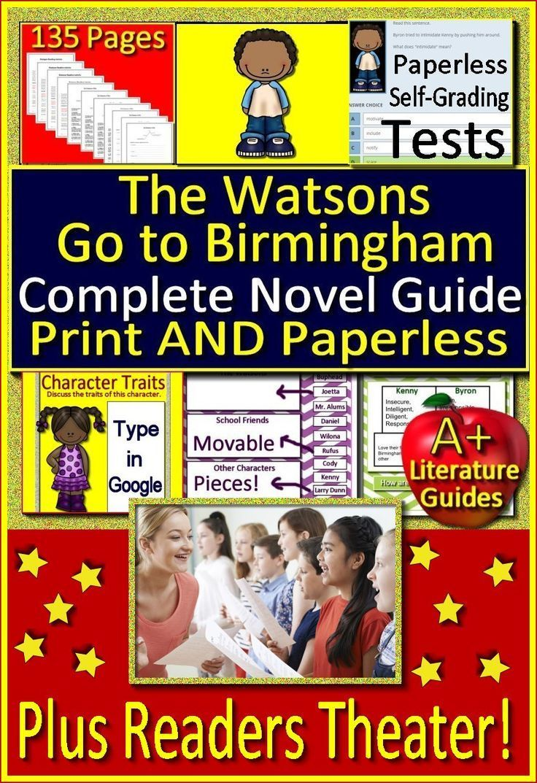 The Watsons Go To Birmingham 1963 Novel Study Google Classroom