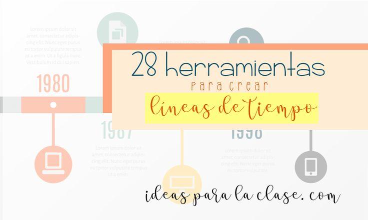 28 herramientas para hacer líneas de tiempo. – Ideas para la clase