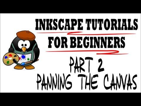 Panning the Canvas - Moving Around the Draw Space - Inkscape Tutorials for Beginners Part 2 - YouTube