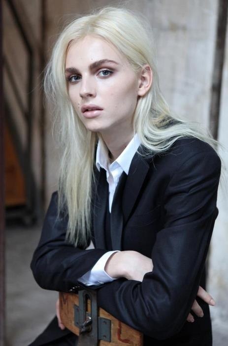 Andrej Pejic Male Model Wearing Men S Clothes Female