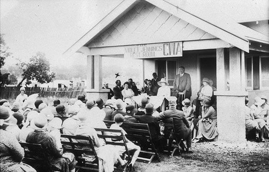 Opening of CWA Rest Room, Merriwa, 1930 • country women's association