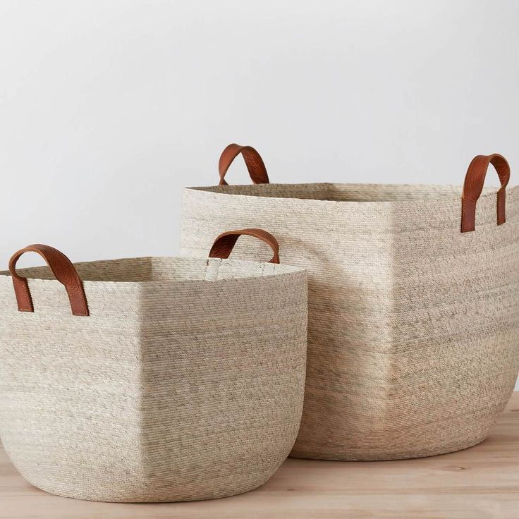 """Woven Storage Baskets 