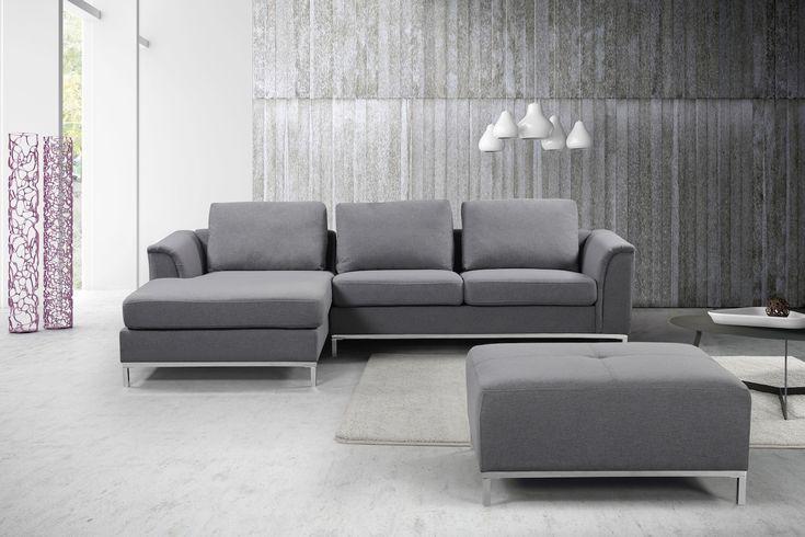 VELAGO - OLLON Fabric Sectional Sofa (R)