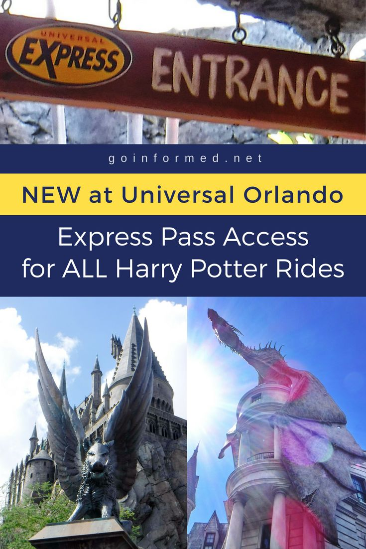 Now Universal Express allows guests to skip the line at all the Orlando Harry Potter rides, including Forbidden Journey, Escape from Gringotts, and Hogwarts Express! Express Pass is an add-on available to all guests at Universal Islands of Adventure and Universal Studios Florida. via @goinformednet