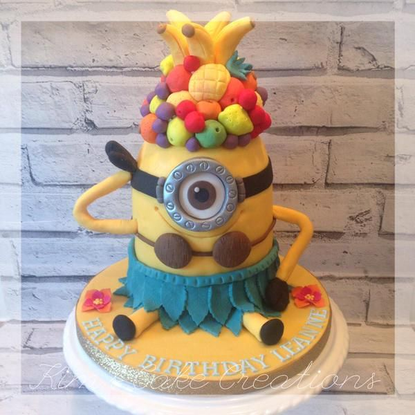 minion hawaiian cake - Google Search