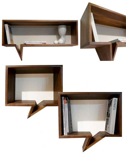 Banish boring bookshelves with these Comic Bookshelves (inquire for price) from Fusca Design.