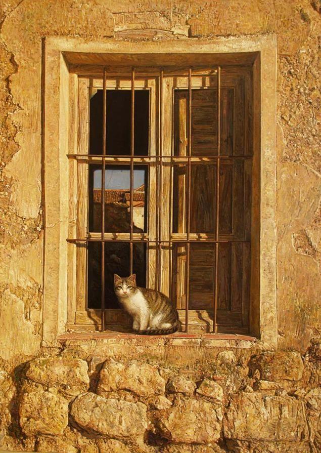 Кошки в искусстве. Антонио Капел: испанский реализм - Ярмарка Мастеров - ручная работа, handmade