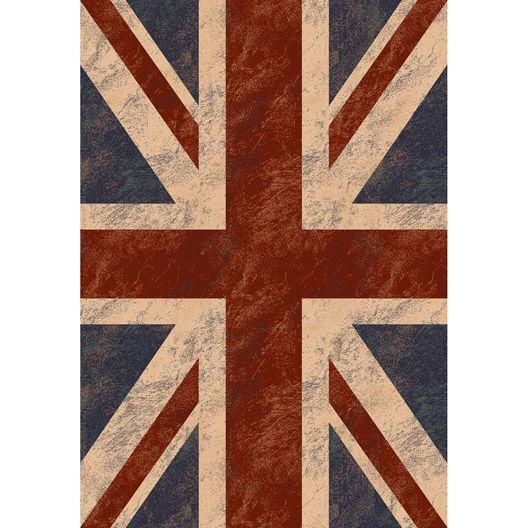 Tapis Ispahan drapeau UK multicolore, 105x67 cm #Décoration #eclairage #luminaire #inspiration #habitation #magasin #leroymerlintrignac #Trignac #Loireatlantique #bricolage #catalogue #intérieur #maison #france