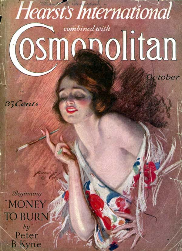 """Hearsts International"" combined with ""Cosmopolitan"": October 1926, Harrison Fisher (artist)."