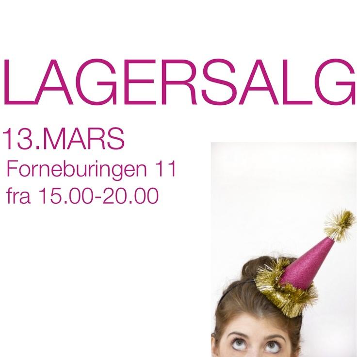 Lagersalg på Fornebu 13. Mars 2013!  Masse spennende, plukk og miks:)