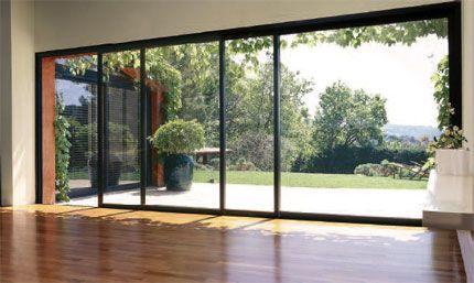Baie vitrée en aluminium 3 vantaux maximise le largeurs d'ouverture