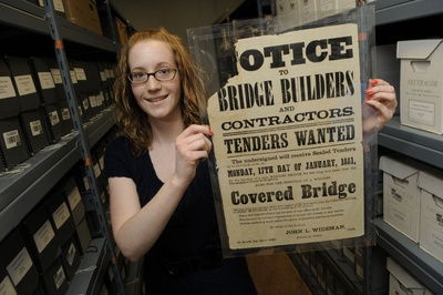 The original drawings of the historic West Montrose bridge are one of Waterloo Region's archival gems tucked away in a climate-controlled vault.
