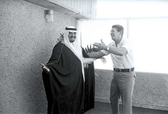 King Fahd from Saudi Arabia and Ronald Reagan. Marbella