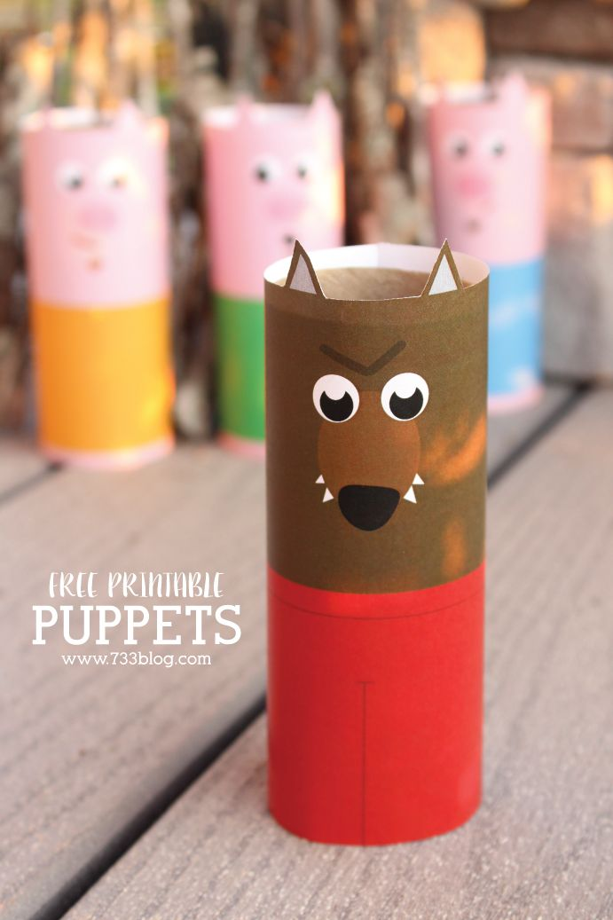 264 best images about 3 little pigs on pinterest see for Toilet roll puppets