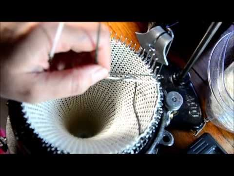 ▶ Fair-isle on the circular sock machine by knottyewe - YouTube