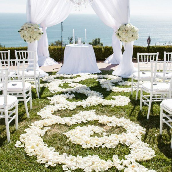 There's something so effortlessly romantic about an outdoor wedding ceremony. Whether you choose a garden, a beach, or a yard, the natural elements will serve as your décor. Here, get ideas from some of the most stunning outdoor ceremonies we've ever seen.
