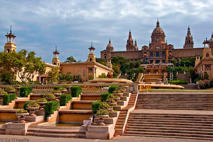 Palau Nacional d'art de Catalunya.  My favorite place to hang out while in BCN and where we got engaged.