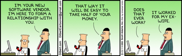 Vendor Relationship Favorite Dilberts Pinterest Scott adams - vendor evaluation