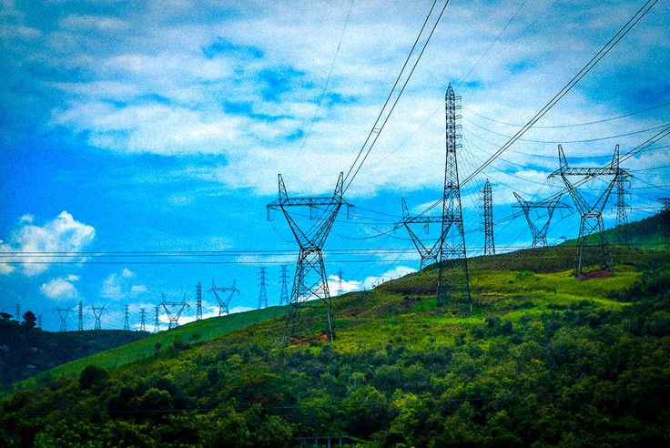 Electric Steel Giants in Rio de Janeiro, in the mountainside on the way to Petropolis.