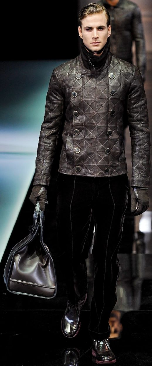 Giorgio Armani men's leather jacket.