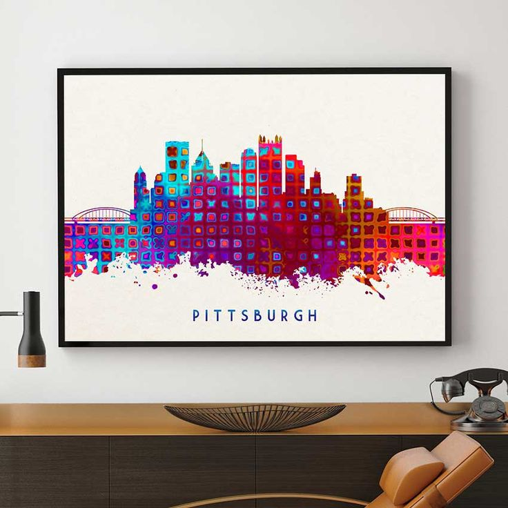 Home Decor Pittsburgh Pa: 17 Best Ideas About Skyline Painting On Pinterest