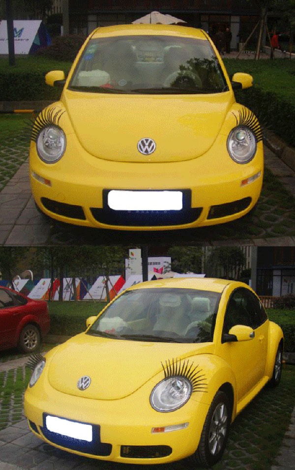 Cool Car False Eyelashes for Car Lamp