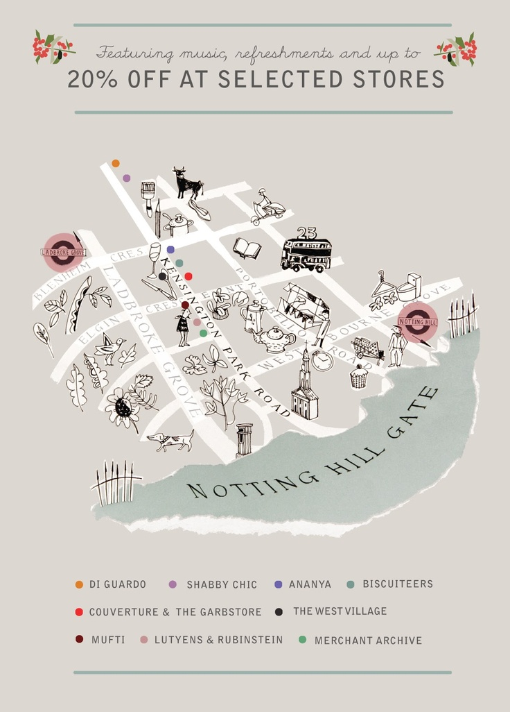 cute illustrative map