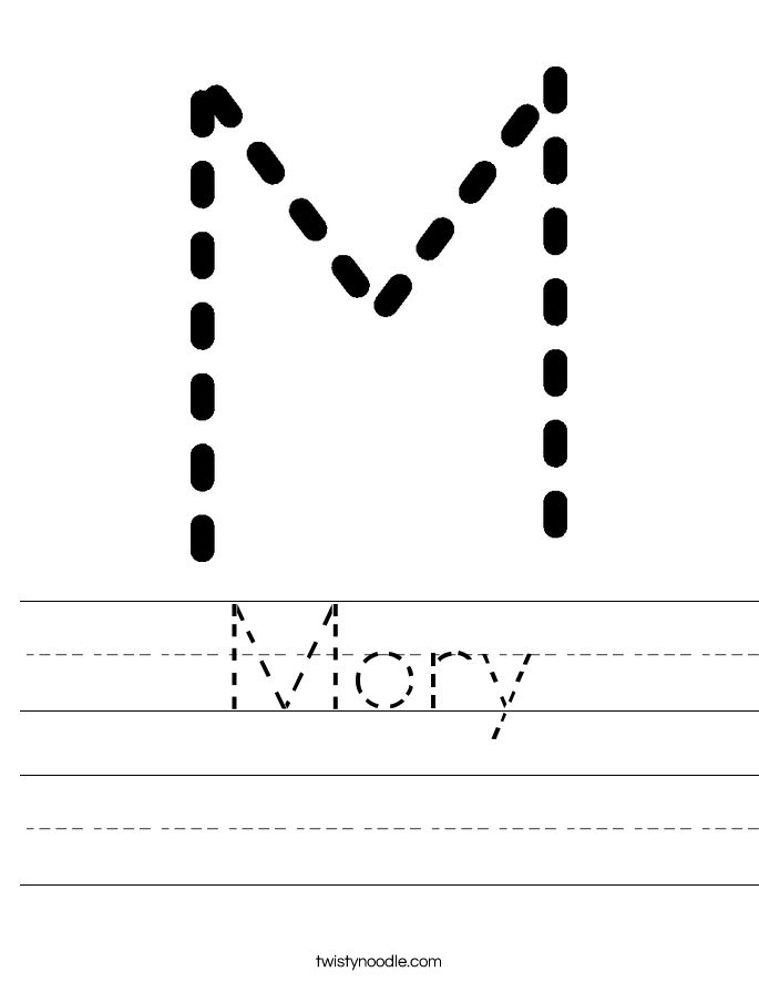 Mory Worksheet - Twisty Noodle | Preschool writing ...