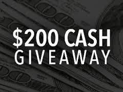 Win $200 Cash Giveaway