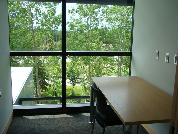 Peaceful, private study rooms