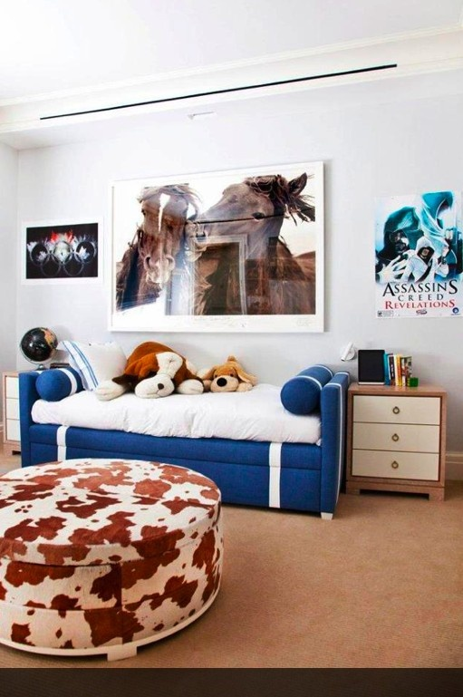 horse decor kids room, cute without being over the top 'Western'. Neutral boy or girl room