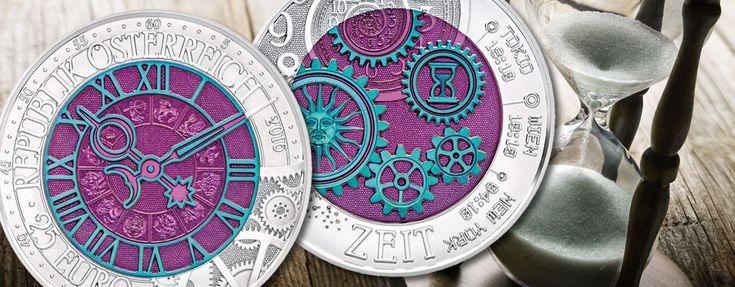 """Österreich 25 Euro Silber Niob 2016 """"Die Zeit"""" › Primus Münzen Blog"""
