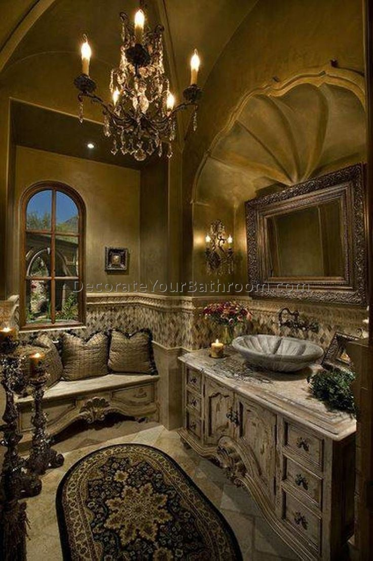 Awesome Tuscan Bathroom Decor
