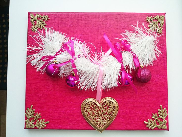 Für Kinder - Bild  Weihnachten - durchbrochene Herz 30x25 - ein Designerstück von atelier-house-decor bei DaWanda